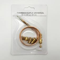 Термопара универсальная L=600 M9X1 Ø6X65 Переходники-6шт Код: ISL600TC